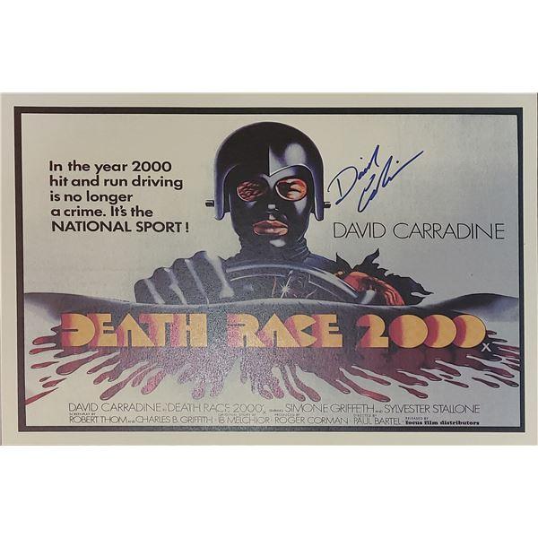 David Carradine Signed Death Race 2000 Window Card