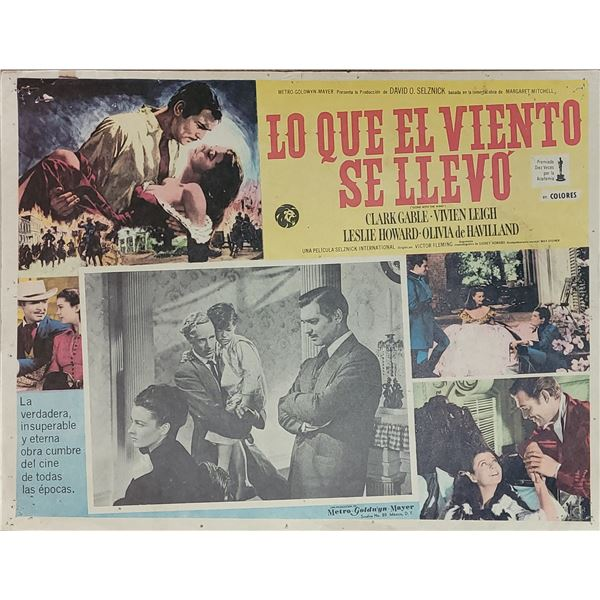 Gone with the Wind Original Mexican Lobby Card