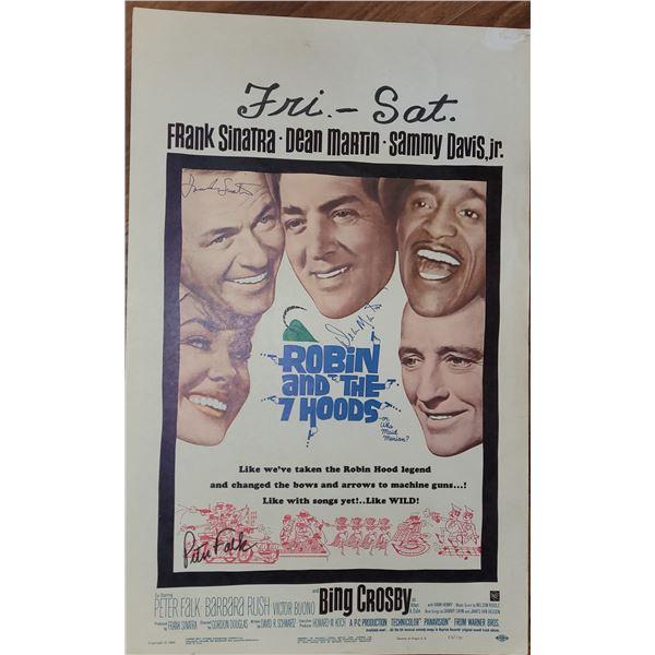 Frank Sinatra Dean Martin Peter Falk Signed Window Card