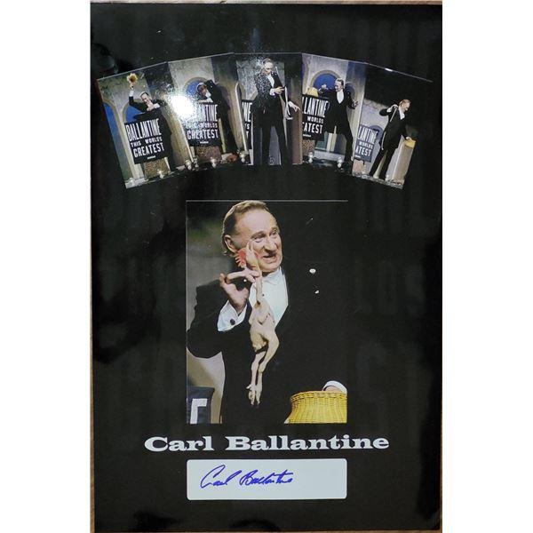 Carl Ballantine Signed 11x17 Photo