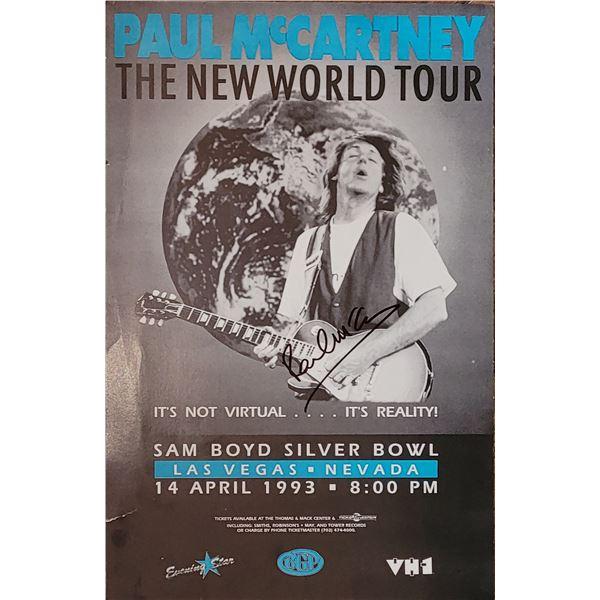 Paul McCartney New World Tour Window Card