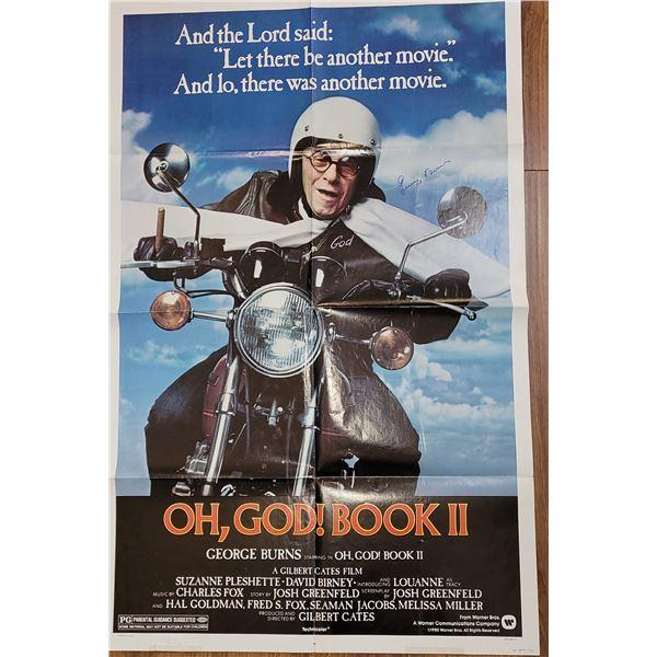 George Burns Signed Oh God, Book 2 Poster