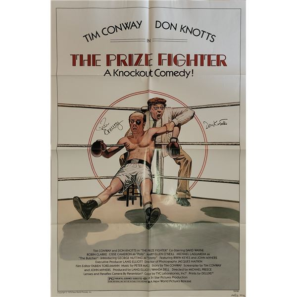 Tim Conway Don Knotts The Prize Fighter Signed Poster