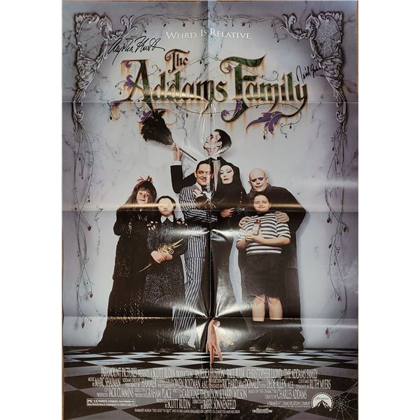 Angelica Huston Raul Julia The Addams Family Signed Poster