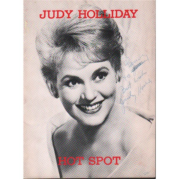 Judy Holliday Hot Spot Tour Book Signed by 5