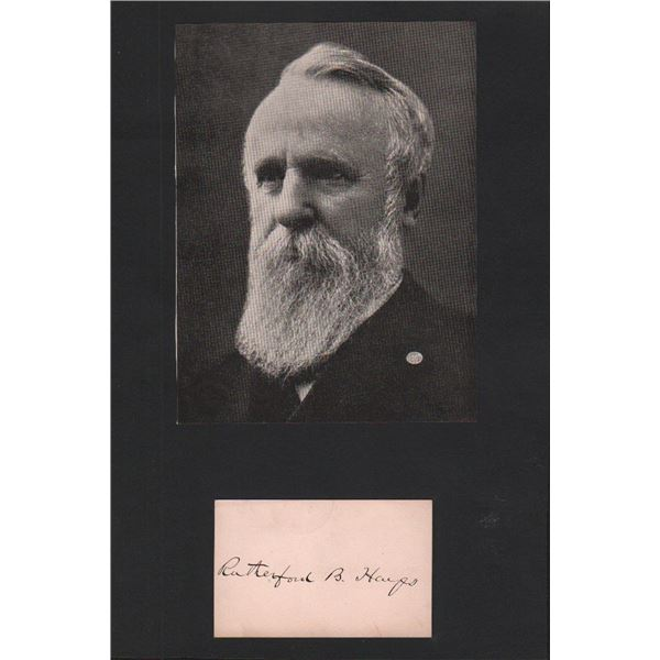President Rutherford B. Hayes Signature Cut