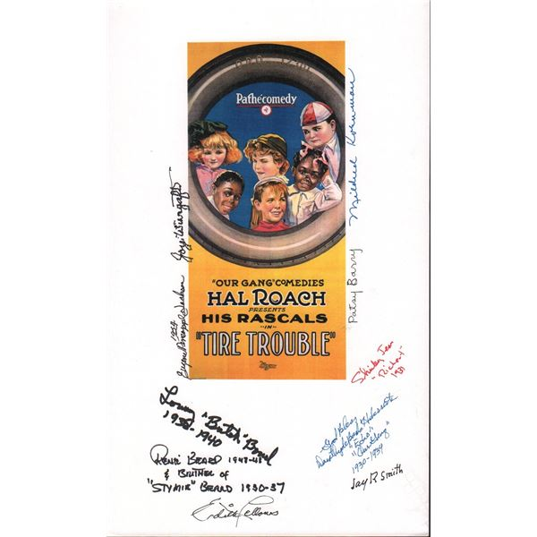 Hal Roach Our Gang Custom Print Signed by 10