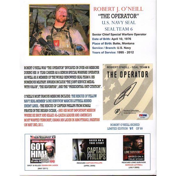 Robert J. O'Neill Navy Seal Signature Osama Bin Laden