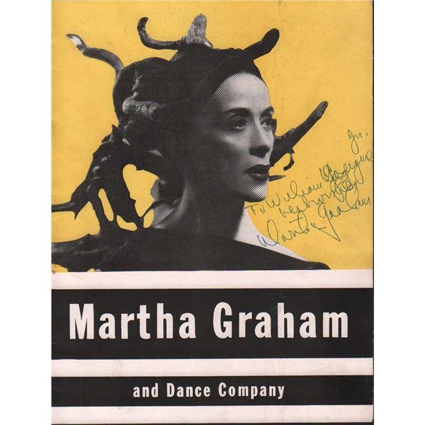 Martha Graham Signed Dance Company Program