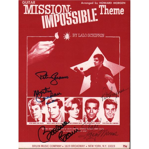 Mission Impossible Cast Signed Sheet Music