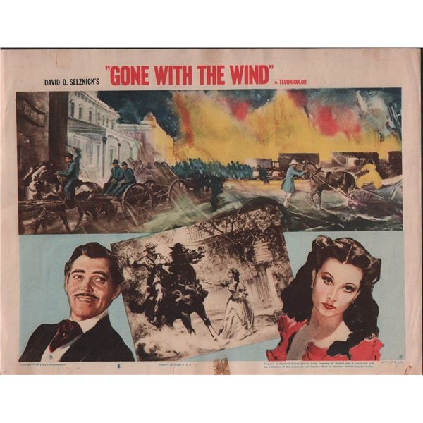 Gone with the Wind 1954 Lobby Card