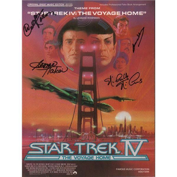 Star Trek The Voyage Home Signed Sheet Music