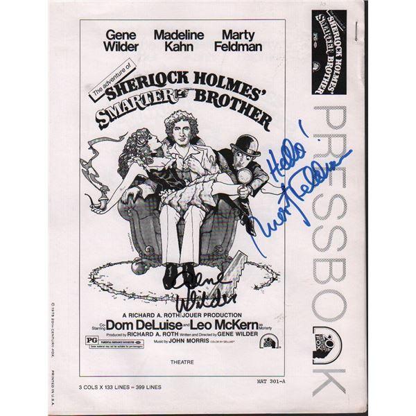Gene Wilder Marty Feldman Signed Press Book