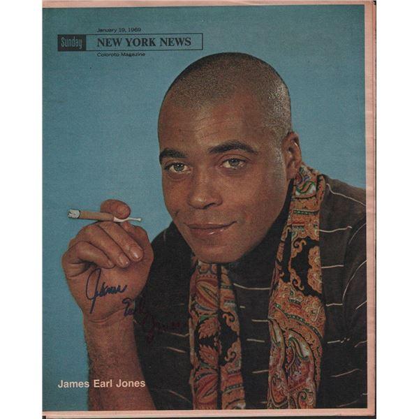 James Earl Jones Signed 1969 New York News