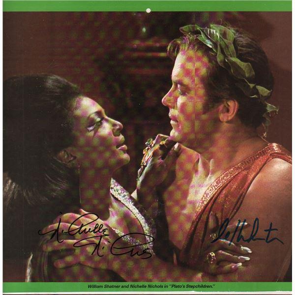 William Shatner Nichelle Nichols Star Trek Signed Print