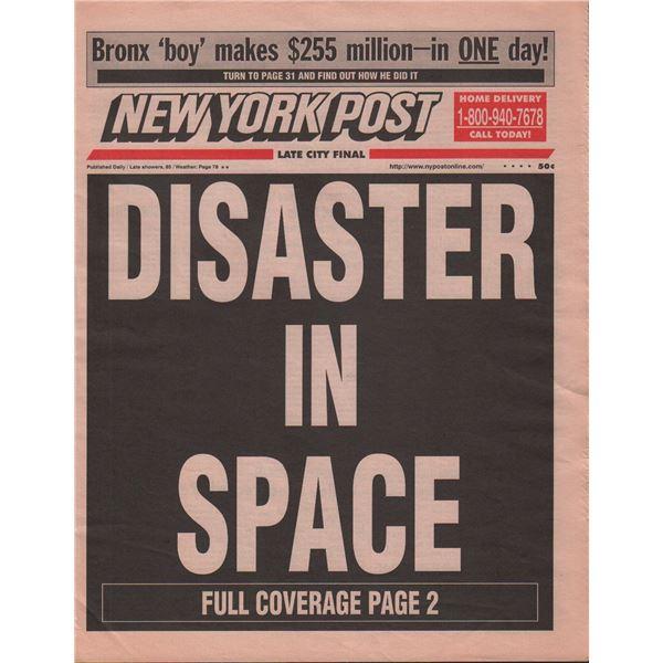 Armageddon Screen Used Prop Newspaper
