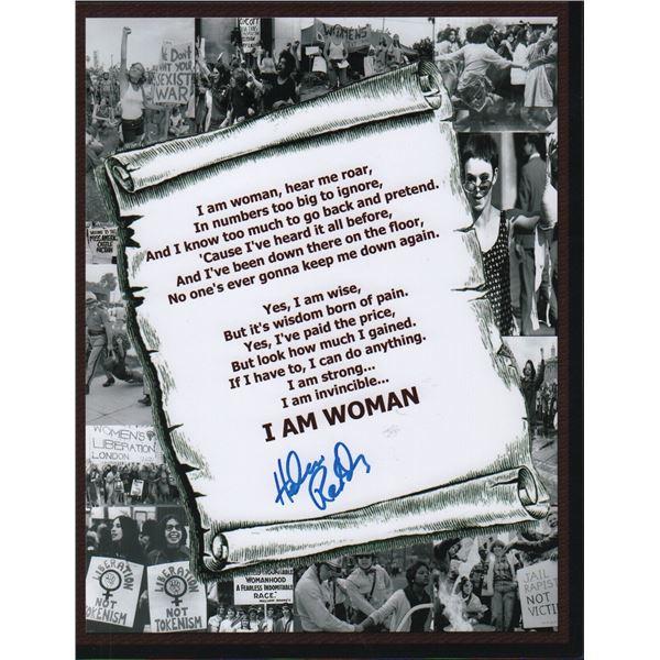 Helen Reddy Signed I Am Woman Lyrics