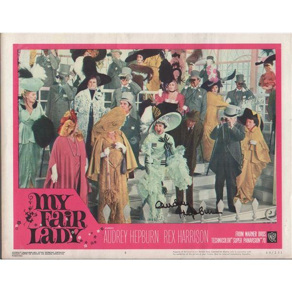 Audrey Hepburn Signed My Fair Lady Lobby Card