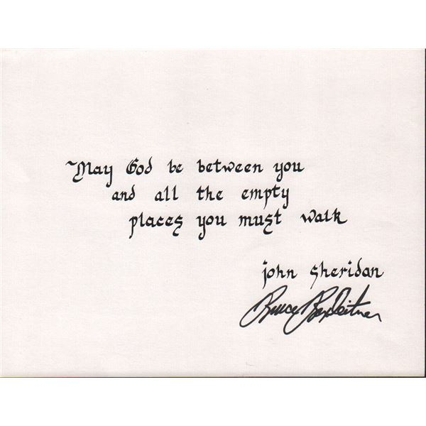 Bruce Boxleitner Signed Quote