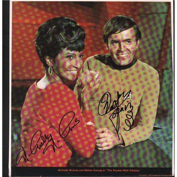 Nichelle Nichols Walter Koenig Star Trek Signed Print