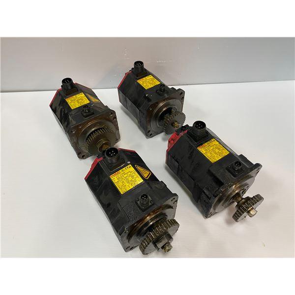 (4) - Fanuc A06B-0235-B605#S000 AC Servo Motors