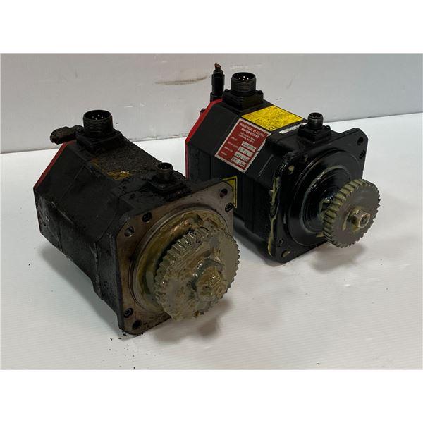 (2) - Fanuc Motors (tags are unreadable)