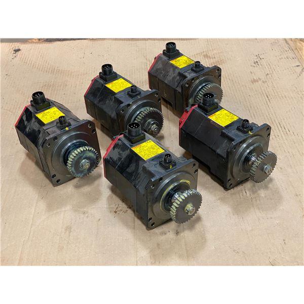 (5) - Fanuc A06B-0235-B605 AC Servo Motors