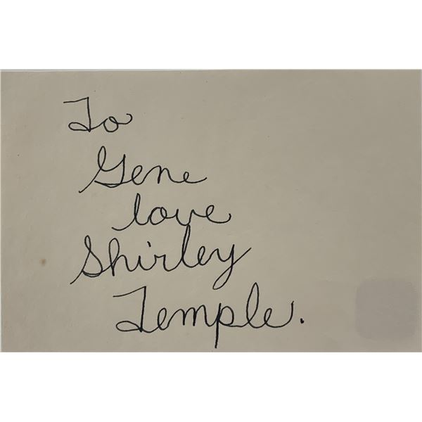 Shirley Temple original signature