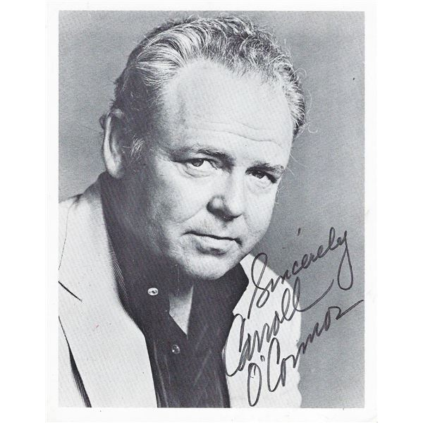 Archie Bunker Carroll O'Connor signed photo
