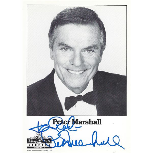 Peter Marshall signed photo