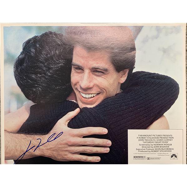John Travolta signed lobby card