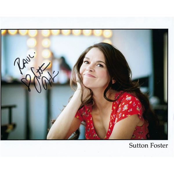 Sutton Foster signed photo