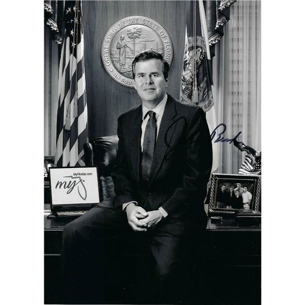 Jeb Bush signed photo