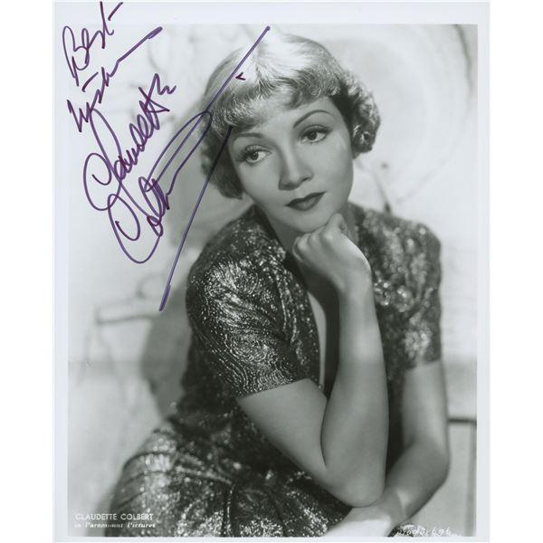 Claudette Colbert signed photo