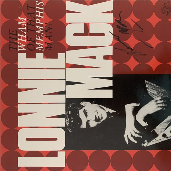 Lonnie Mack signed The Wham Of That Memphis Man album
