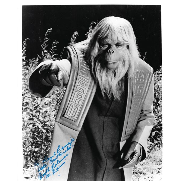 Booth Colman Planet of the Apes signed photo