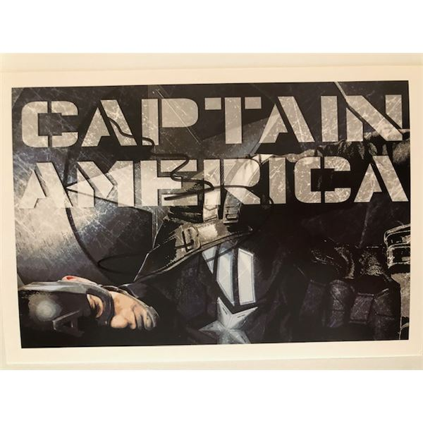 Chris Evans signed Captain America postcard