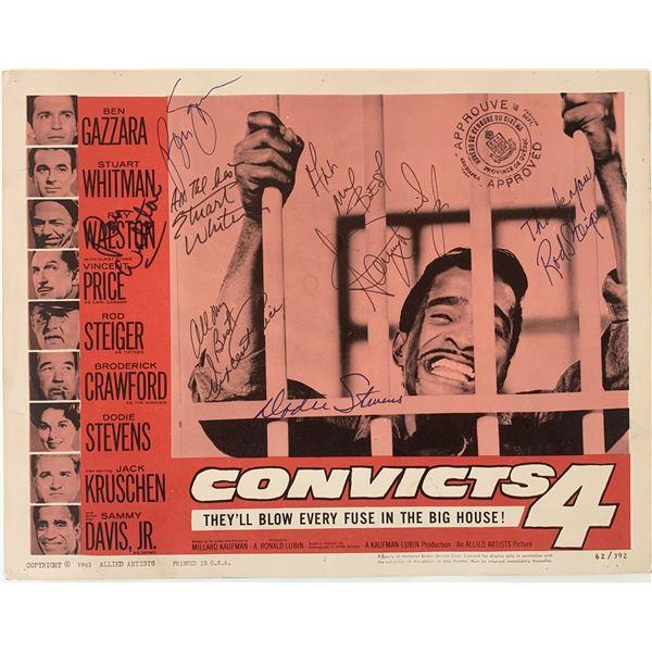 Convicts 4 Sammy Davis signed lobby card