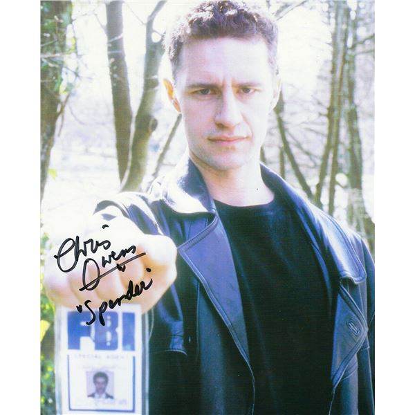 X Files Chris Owens signed photo