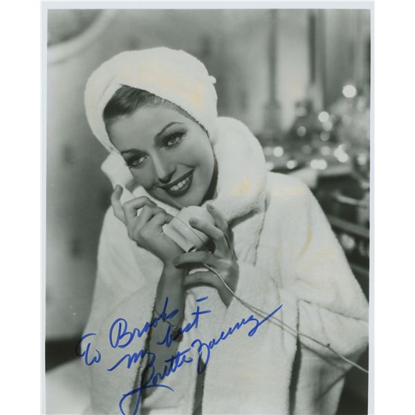 Loretta Young signed photo