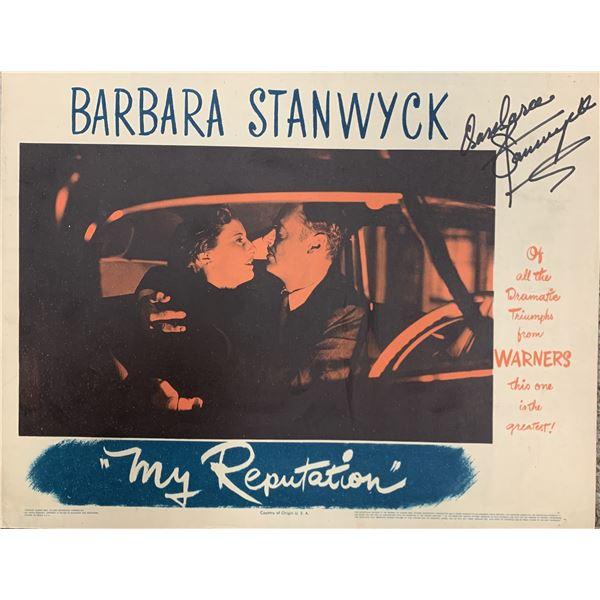 My Reputation Barbara Stanwyck signed Lobby Card