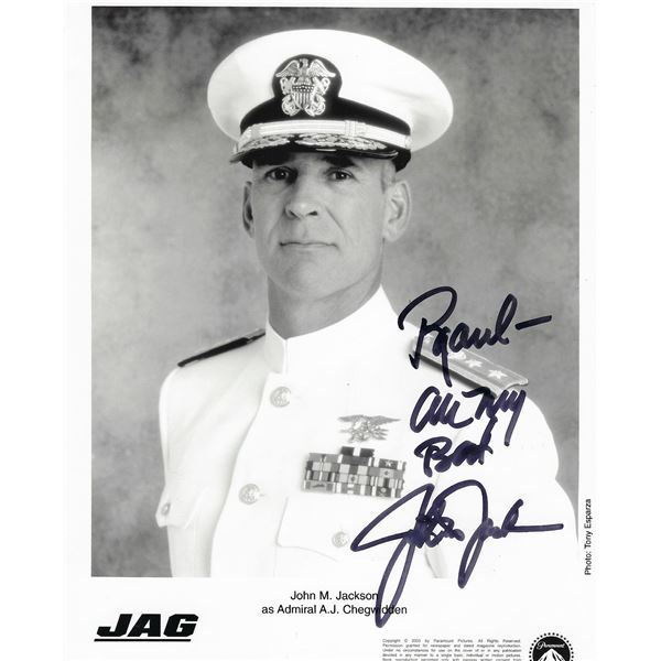 JAG John M. Jackson signed photo