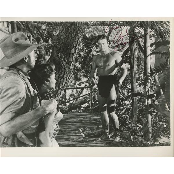 Tarzan Lex Barker signed movie photo