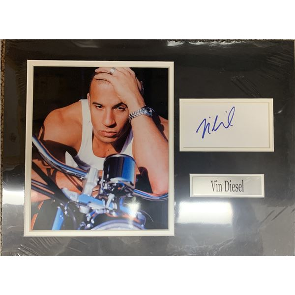 Vin Diesel signature cut and photo collage