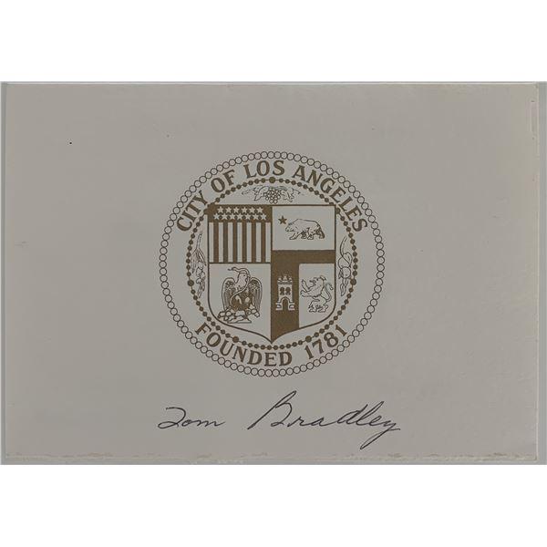 Tom Bradley signed inaugural invitation