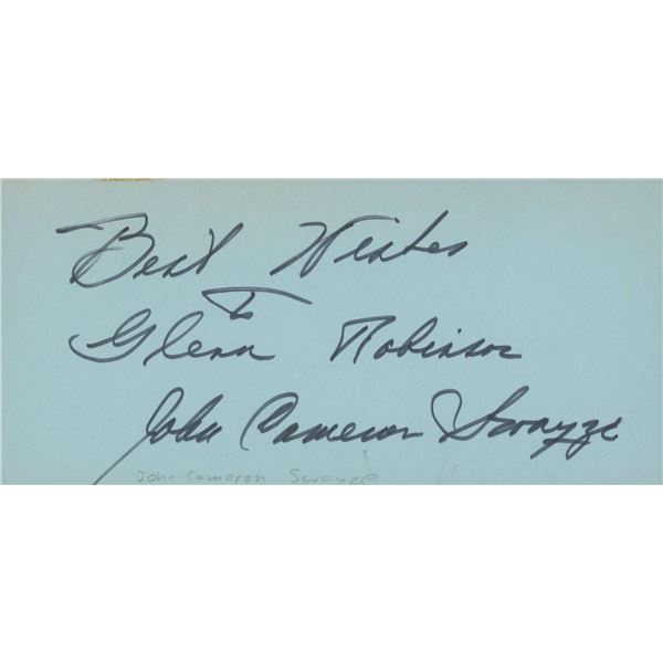 John Cameron Swayze signed note