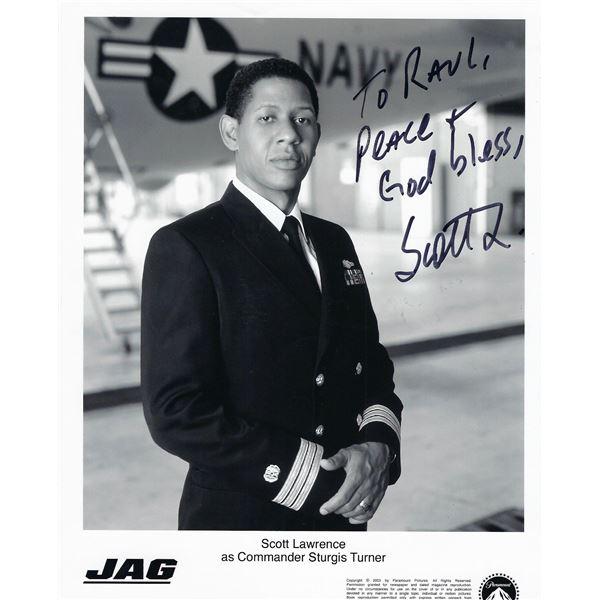 JAG Scott Lawrence signed photo