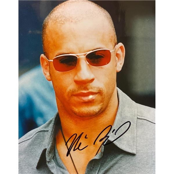 Vin Diesel Signed Photo