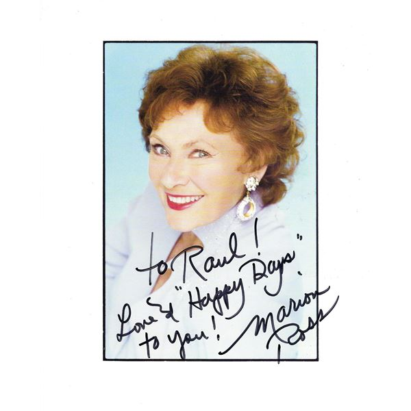 Marion Ross signed Happy Days photo