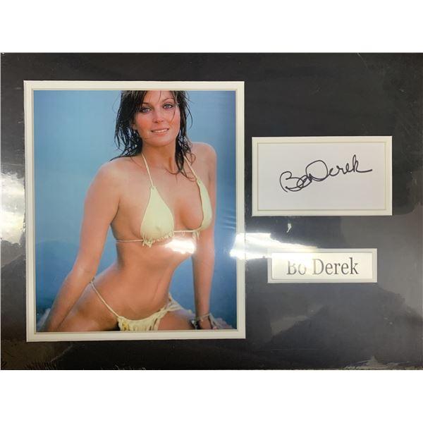 Bo Derek signature cut and photo collage